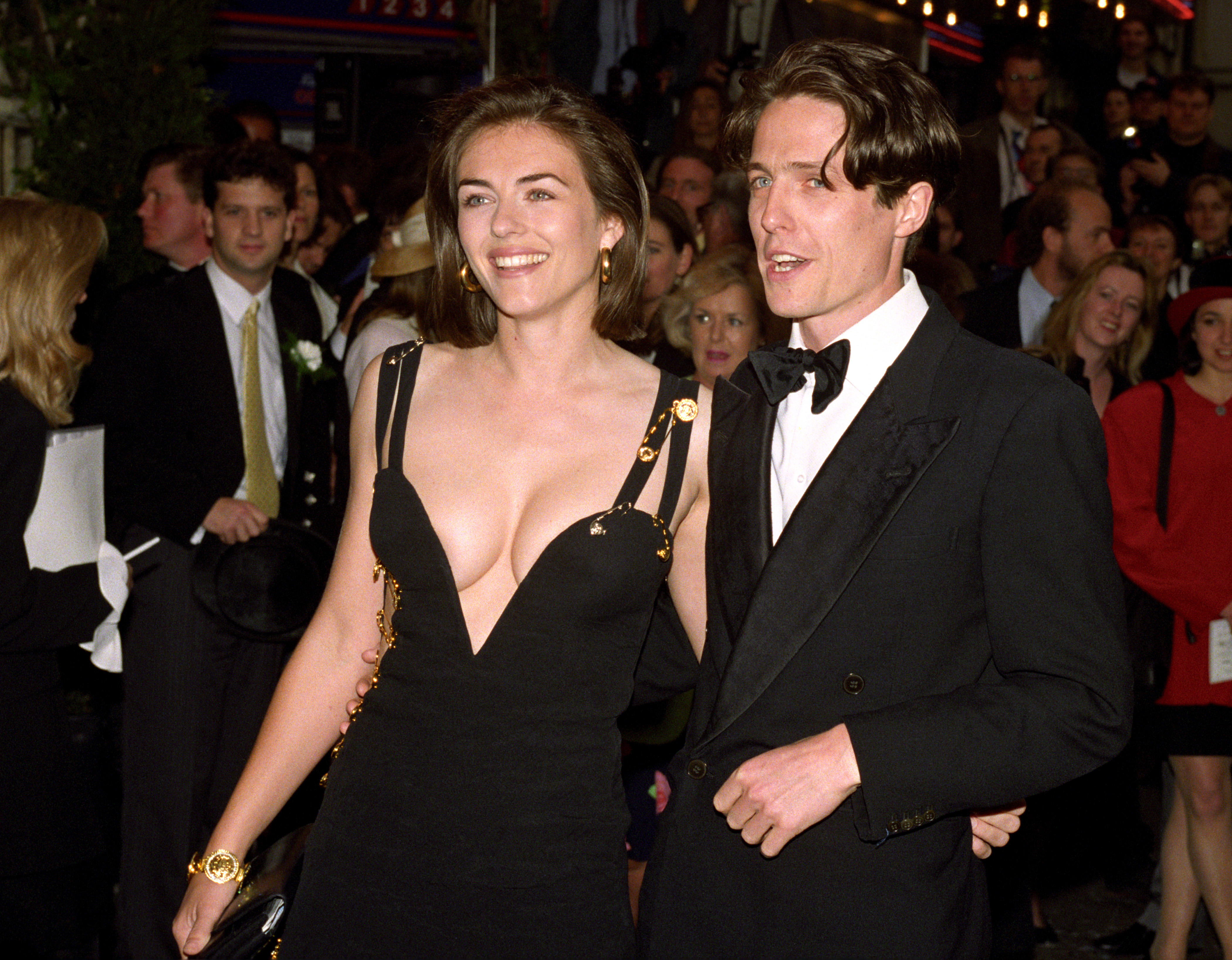 Liz Hurley and Hugh Grant Versace Dress