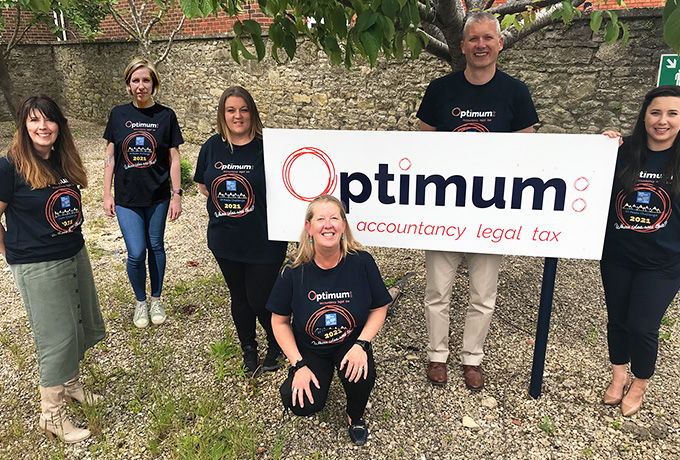 Optimum colleagues hope to reach dizzy heights for charity fundraising
