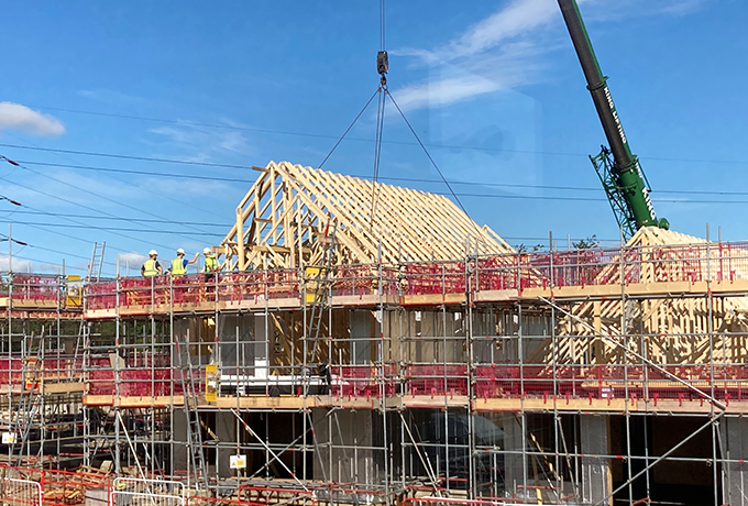 88 sustainable homes at Orchard Field beginning to take shape